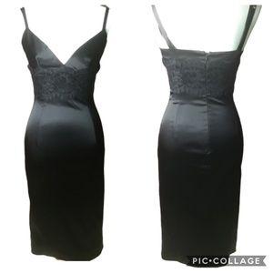 Dolce Gabbana black dress with lace SZ S